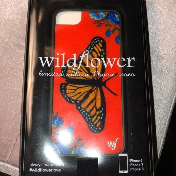 sports shoes 6e080 064eb Wildflower butterfly iPhone 6/7/8 case NWT
